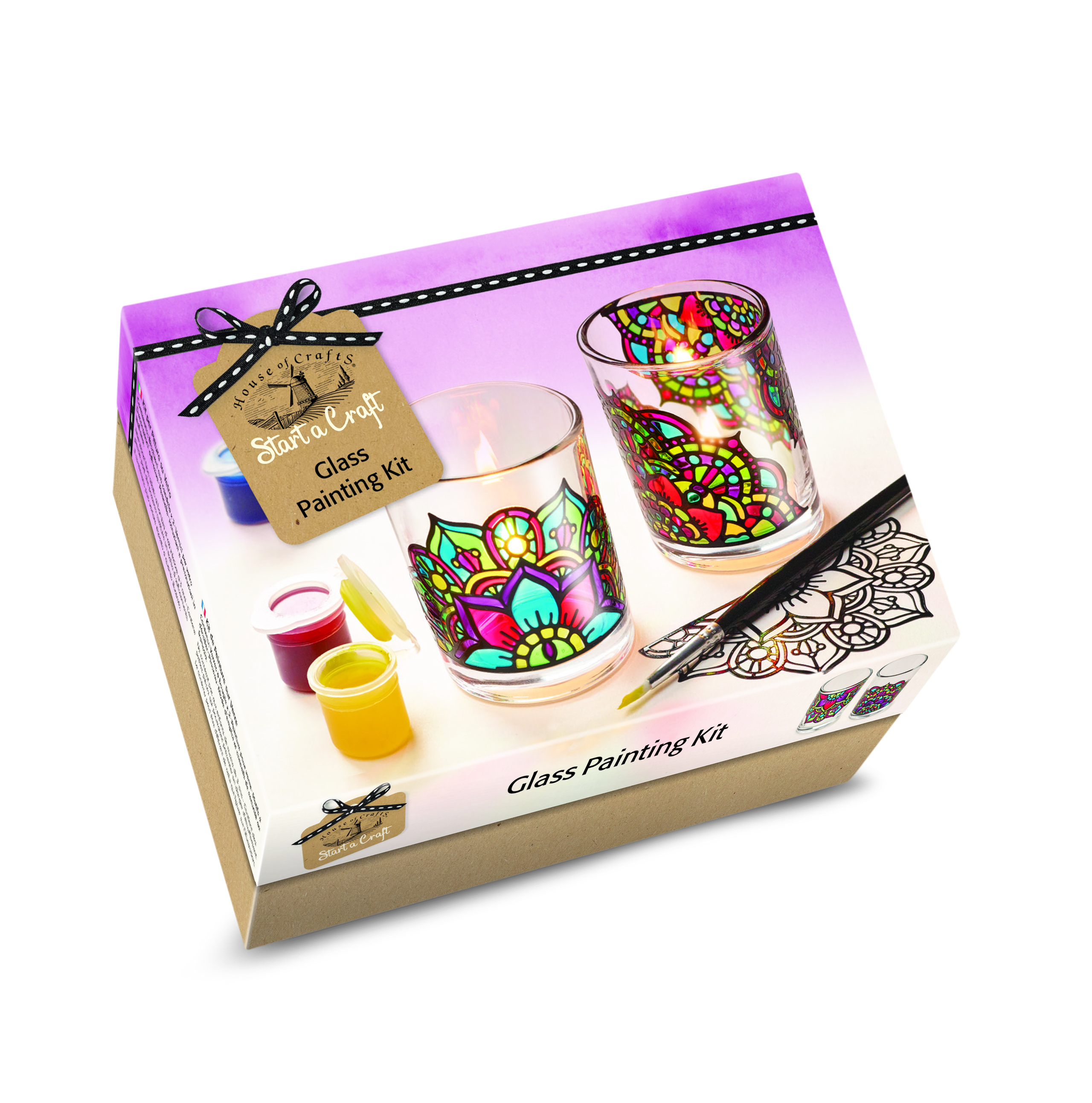 HOUSE OF CRAFTS GLASS PAINTING KIT SC050
