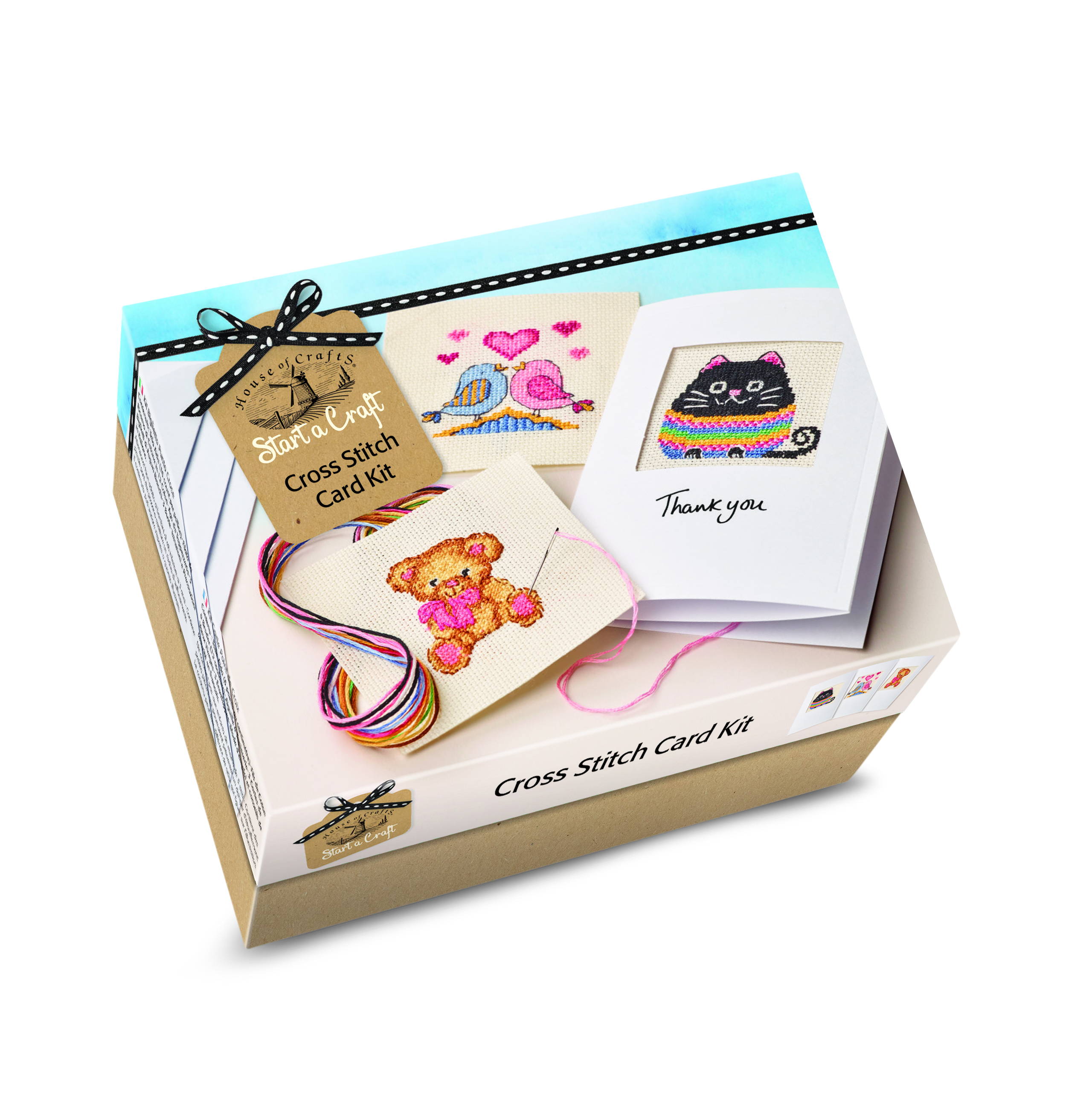 HOUSE OF CRAFTS CROSS STITCH CARDS KIT SC060