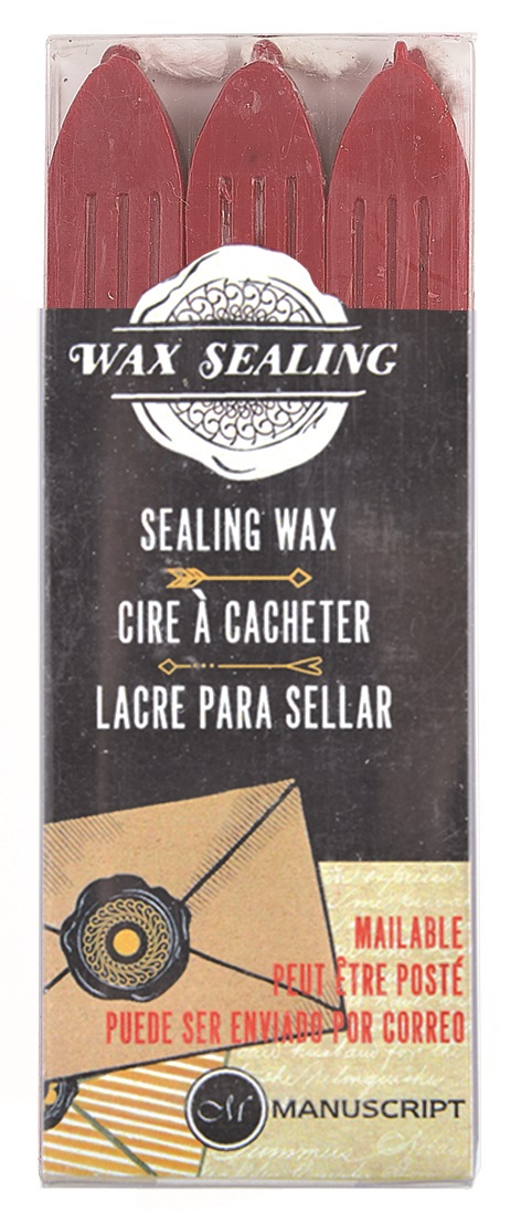 MANUSCRIPT WAX SET OF 3 RED MSH7633RW