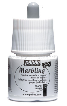 PEBEO MARBLING INK WHITE 45ml 130-010