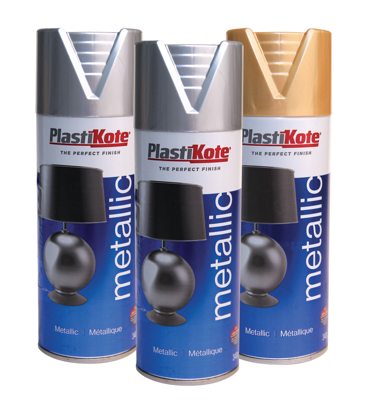 PLASTIKOTE METALLIC SPRAY PAINT 400ml ANTIQUE GOLD