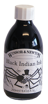 WN DRAWING INK 250ml BLACK 1040030