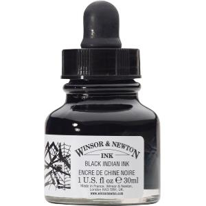 WN DRAWING INK 30ml - BLACK (DROPPER) INDIAN INK 1011030