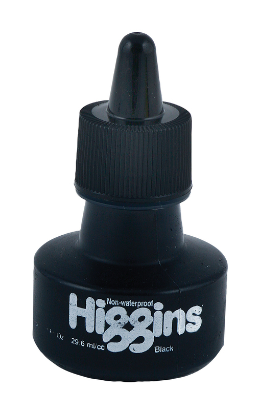 HIGGINS DESIGN NON-WATERPROOF 29ml BLACK INK