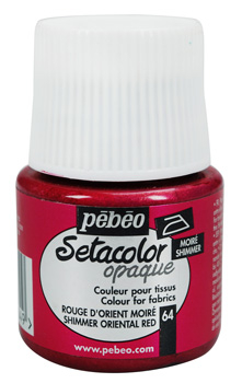 PEBEO SETACOLOR OPAQUE 45ml - SHIMMER ORIENTAL RED 295064