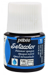 PEBEO SETACOLOR OPAQUE 45ml - SHIMMER JET BLACK 295079