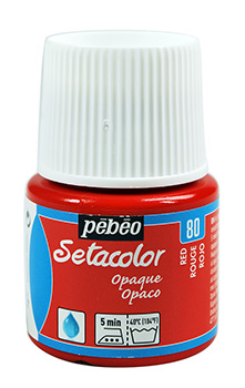 PEBEO SETACOLOR RED 80 OPAQUE 45ml 295080