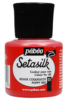 Fabric Painting - PEBEO SETASILK 45ml - POPPY RED 181-005
