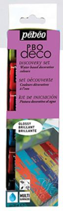 PEBEO DECO GLOSSY DISCOVERY COLLECTION - 6 X 20ml 753411