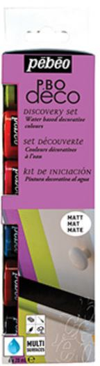 PEBEO DECO MATT DISCOVERY COLLECTION - 6 X 20ml 753401