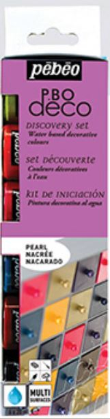 PEBEO DECO PEARL DISCOVERY COLLECTION - 6 X 20ml 753413
