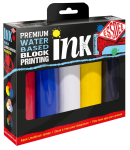 BLOCK PRINTING INK 5 SET PRIMARY COLOURS  LPI/A5R
