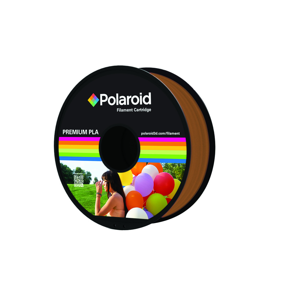 BROWN POLAROID PREMIUM PLA FILAMENT 1kg PL-8012-00