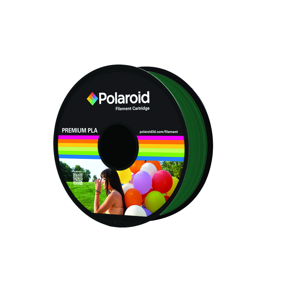 DARK GREEN POLAROID PREMIUM PLA FILAMENT 1kg PL-8014-00