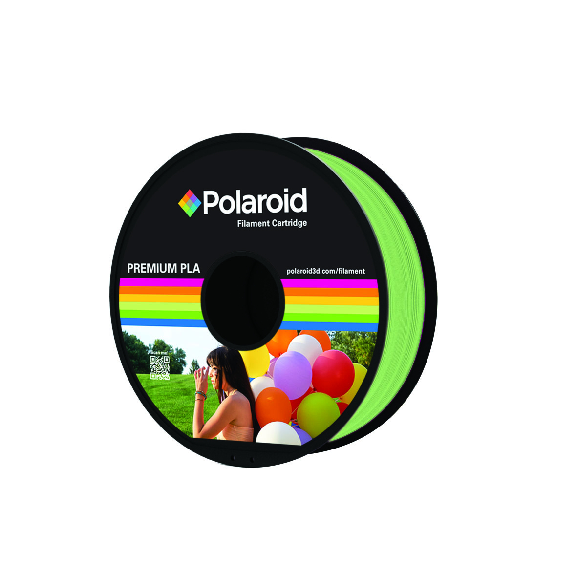 LIGHT GREEN POLAROID PREMIUM PLA FILAMENT 1kg PL-8005-00