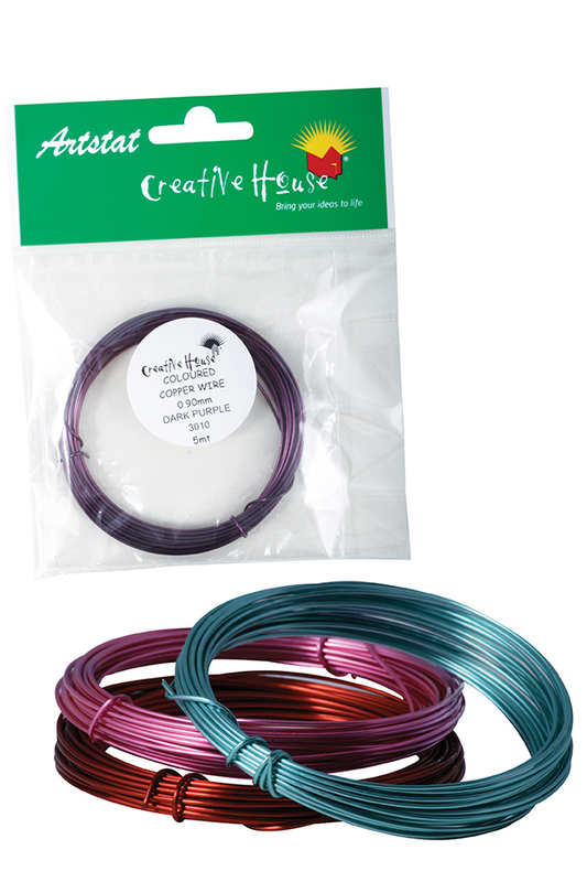 COLOURED CRAFT WIRE - 0.9mm x 5m - DARK PURPLE