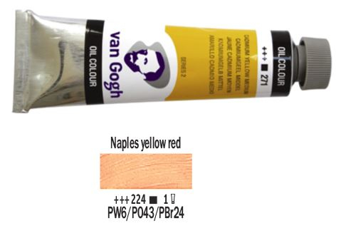 NAPLES YELLOW RED VAN GOGH OIL 40ml