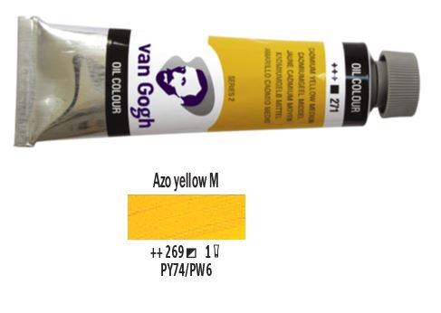 AZO YELLOW MEDIUM VAN GOGH OIL 40ml