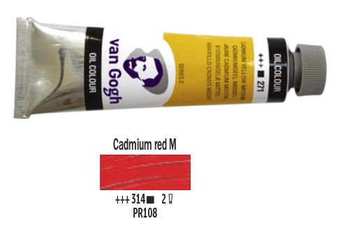CADMIUM RED MEDIUM VAN GOGH OIL 40ml