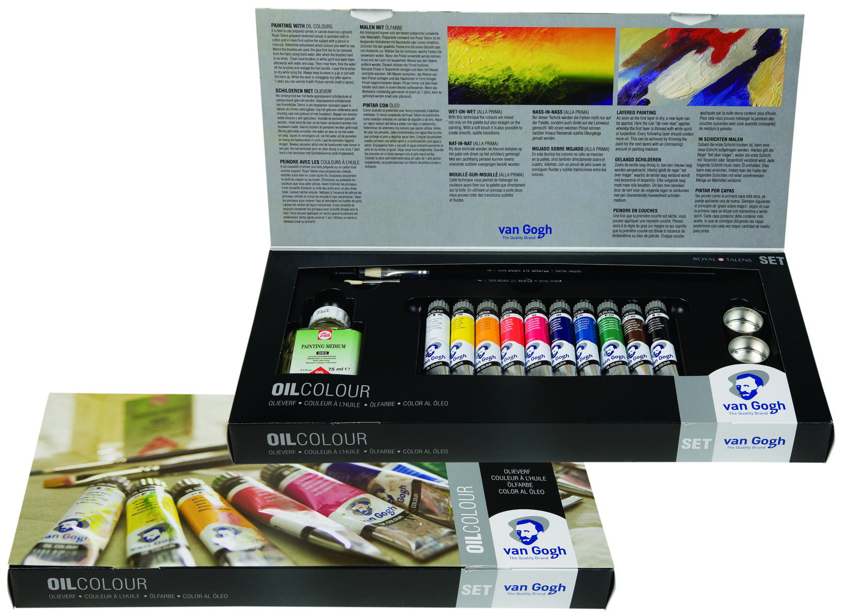 VAN GOGH OIL COMBI SET 10 x 20ml WITH ACCESSORIES