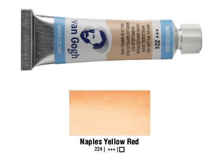 NAPLES YELLOW RED VAN GOGH WATERCOLOUR 10ml