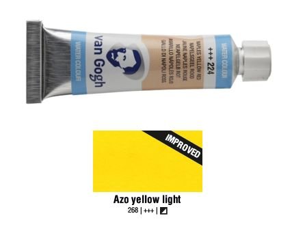 AZO YELLOW LIGHT VAN GOGH WATERCOLOUR 10ml