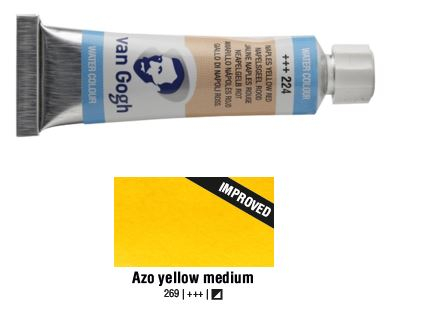 AZO YELLOW MEDIUM VAN GOGH WATERCOLOUR 10ml