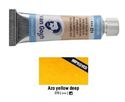 AZO YELLOW DEEP VAN GOGH WATERCOLOUR 10ml