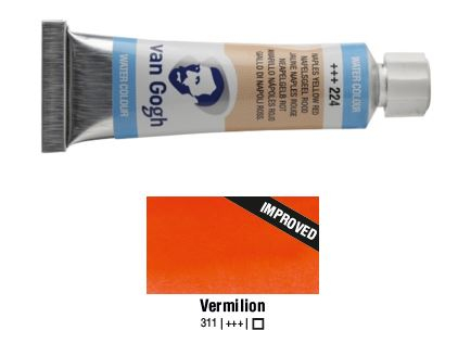 VERMILION VAN GOGH WATERCOLOUR 10ml