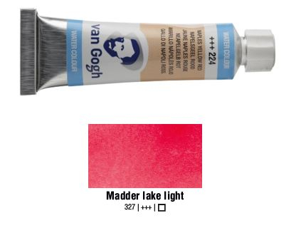 MADDER LAKE LIGHT VAN GOGH WATERCOLOUR 10ml