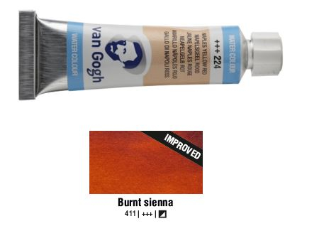 BURNT SIENNA VAN GOGH WATERCOLOUR 10ml