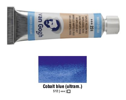 COBALT BLUE ULTRAMARINE VAN GOGH WATERCOLOUR 10ml