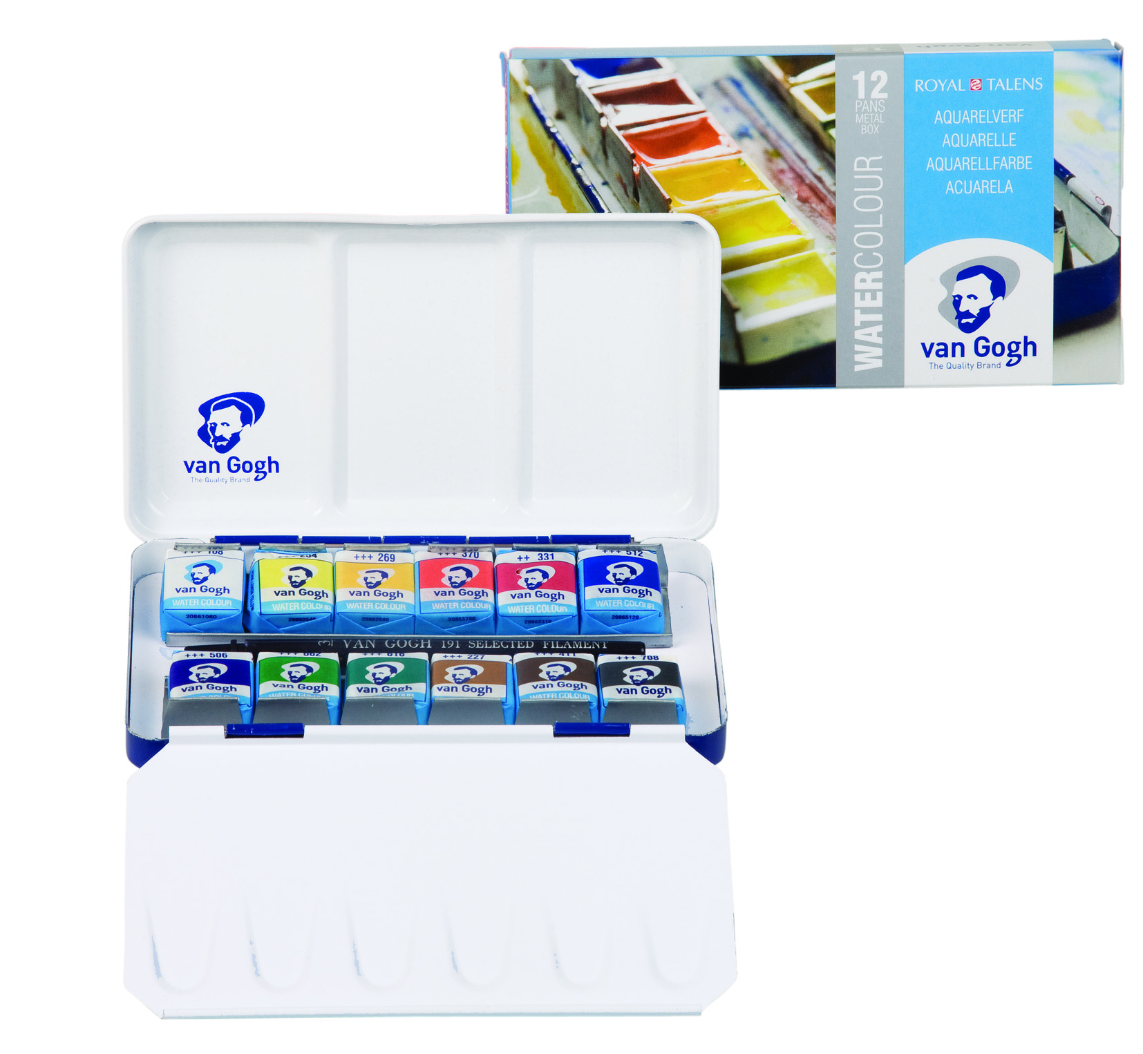 12 PAN METAL BOX 20M8612 VAN GOGH WATERCOLOUR SET
