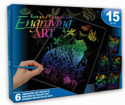 ENGRAVING ART ACTIVITY RAINBOW ROYAL & LANGNICKEL AVS-RAIN206