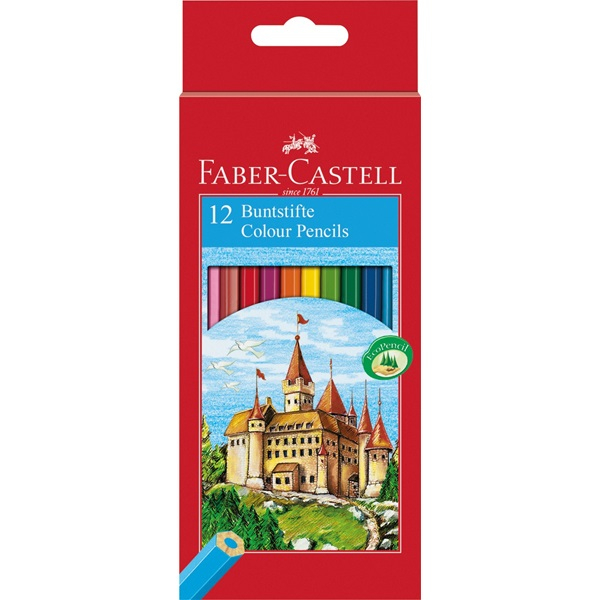 FABER CASTELL 12 COL PENCILS CASTLE 111212