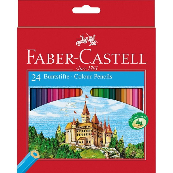 FABER CASTELL 24 COL PENCILS CASTLE 111224