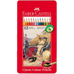 FABER CASTELL 12 COL PENCILS FIGHTING KNIGHTS 115801