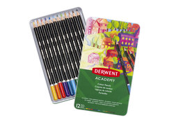 ACADEMY COLOUR PENCILS 12 TIN 2301937
