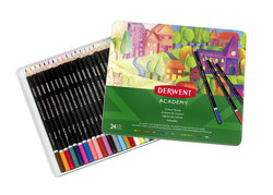 ACADEMY COLOUR PENCILS 24 TIN 2301938