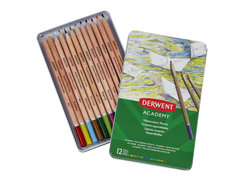ACADEMY WATERCOLOUR PENCILS 12 TIN 2301941