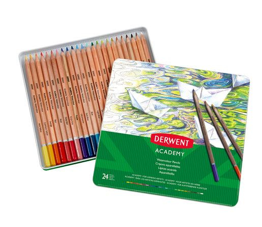 ACADEMY WATERCOLOUR PENCILS 24 TIN 2301942