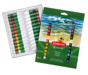 ACADEMY WATERCOLOUR PAINTS 24 x 12ml 98222 by DERWENT