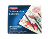 DERWENT WATERCOLOUR COLLECTION TIN OF 24 0700304