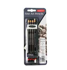 DERWENT CHARCOAL PENCIL BLISTE WITH ACCESSORIES 0700664