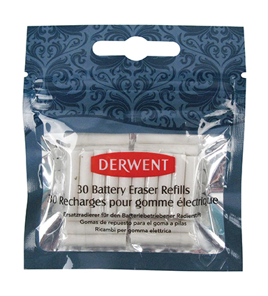 DERWENT REPLACEMENT ERASERS 2300023 FOR BATTERY PEN