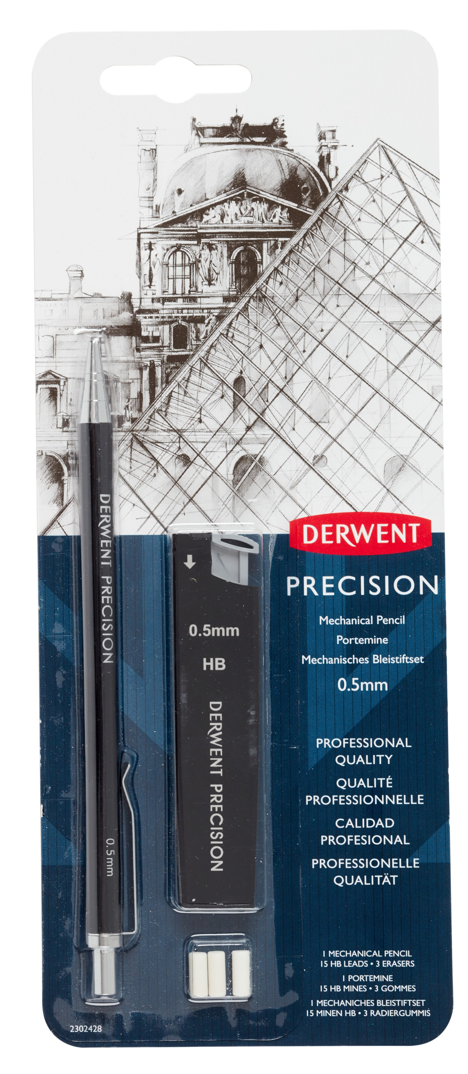 DERWENT MECHANICAL PENCIL 0.5 HB BLISTER SET 2302428