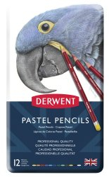 DERWENT PASTEL PENCILS TIN OF 12 32991