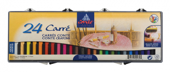 CONTE CARRES CRAYONS 24 ASSORTED 9750131