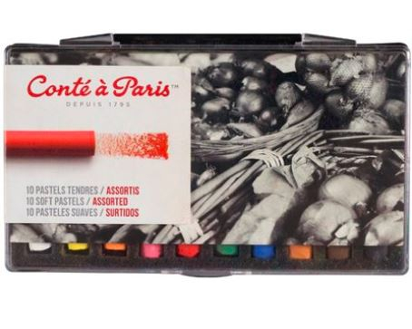 CONTE SOFT PASTELS 10 ASSORTED 50211