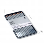 WN STUDIO COLLECTION MEDIUM GRAPHITE TIN 12 490008